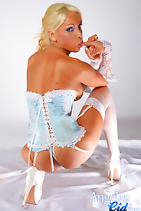 The worlds most beautiful Shemale Angeles Cid in sexy lingerie