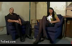 Busty tranny Yasmin Lee fucks guy on