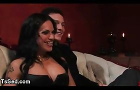 Tranny ties up guy and pounds his ass