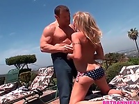 Olivia in Bikini by the Pool